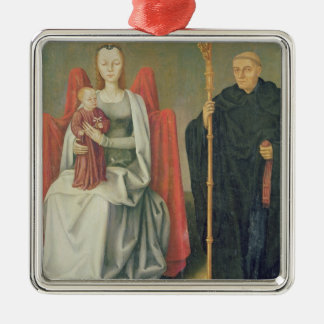 Virgin and Child with St. Benedict Metal Ornament