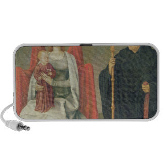 Virgin and Child with St. Benedict Notebook Speakers