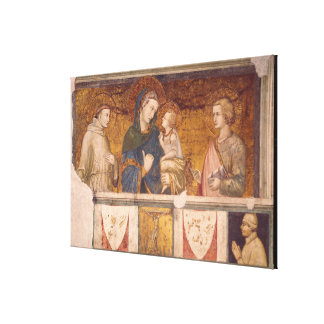 Virgin and Child with St. Francis and St. John Stretched Canvas Prints