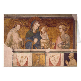 Virgin and Child with St. Francis and St. John Card