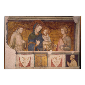 Virgin and Child with St. Francis and St. John Poster