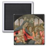 Virgin and Child with St. John the Baptist Refrigerator Magnet