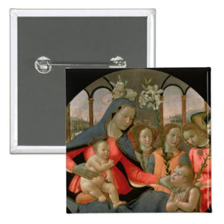 Virgin and Child with St. John the Baptist Pinback Button