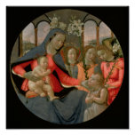Virgin and Child with St. John the Baptist Poster