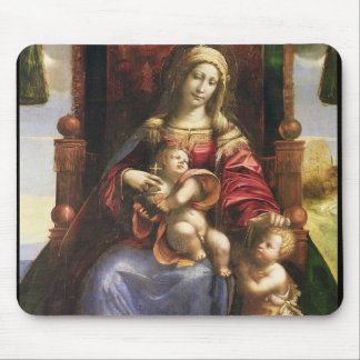 Virgin and Child with the infant St. John Mouse Pad