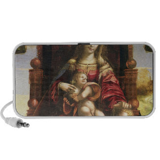 Virgin and Child with the infant St. John Portable Speakers