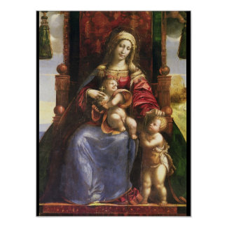 Virgin and Child with the infant St. John Poster
