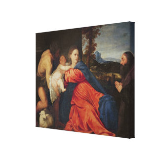 Virgin and Infant Canvas Print