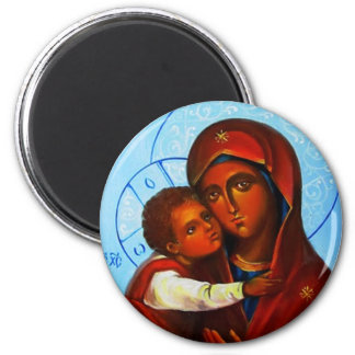 Virgin and the Child Russian Icon Magnet