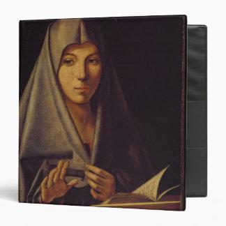 Virgin Annunciate (oil on panel) 3 Ring Binders