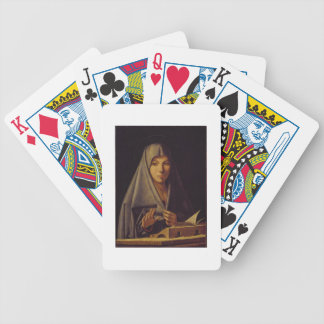 Virgin Annunciate (oil on panel) Bicycle Playing Cards