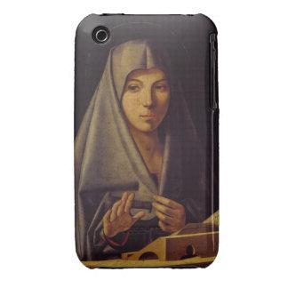 Virgin Annunciate oil on panel iPhone 3 Case-Mate Case