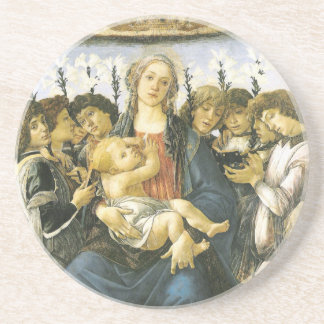 Virgin, Child and Angels Ornament Drink Coasters