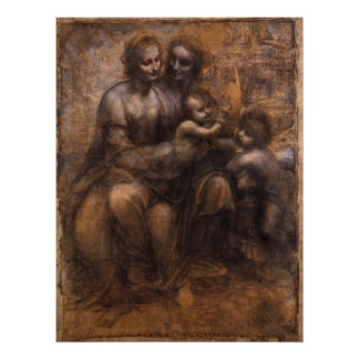 Virgin, Child, St. Anne, St. John the Baptist Poster