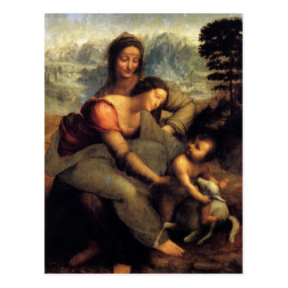 Virgin & Child w/ St.Anne & Lamb Postcard