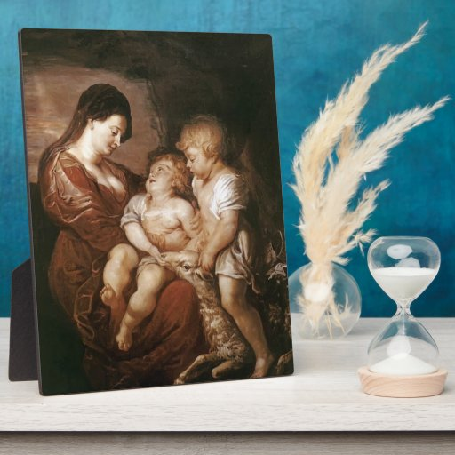 Virgin & Child with Infant St.John by Peter Rubens Photo Plaque