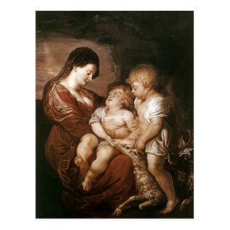 Virgin & Child with Infant St.John by Peter Rubens Postcards