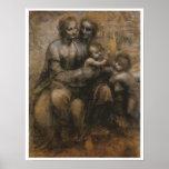 Virgin & Child with Saints Anne & John, da Vinci Posters