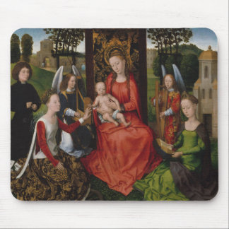 Virgin & Child with Saints Catherine of Alexandria Mouse Pad