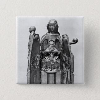 Virgin , early 15th century pinback button