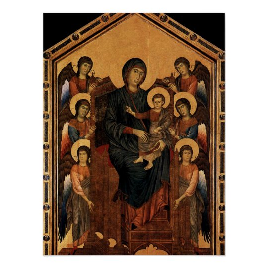 'Virgin Enthroned with Angels' Poster