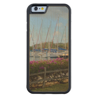 Virgin Gorda Yacht Harbor Carved Maple iPhone 6 Bumper Case