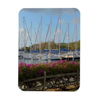 Virgin Gorda Yacht Harbor Rectangular Photo Magnet