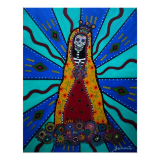 VIRGIN GUADALUPE DAY OF THE DEAD POSTER POSTERS