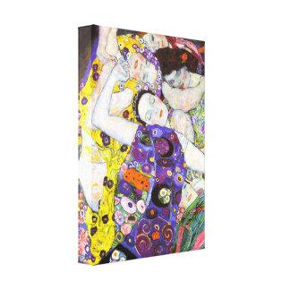 Virgin, Gustav Klimt Stretched Canvas Prints