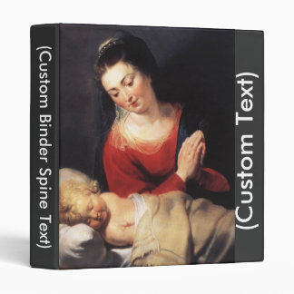 Virgin in Adoration before the Christ Child 3 Ring Binder