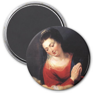 Virgin in Adoration before the Christ Child Magnet