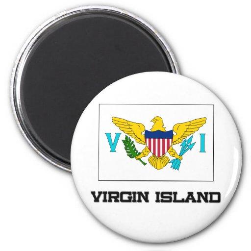 Virgin Island Flag 2 Inch Round Magnet