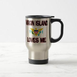 Virgin Island Loves Me 15 Oz Stainless Steel Travel Mug