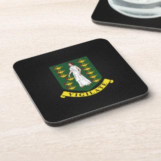 Virgin Islander coat of arms Beverage Coaster