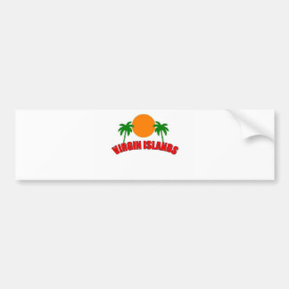 Virgin Islands Car Bumper Sticker
