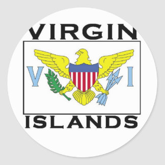 Virgin Islands Classic Round Sticker