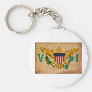 Virgin Islands Flag Basic Round Button Keychain