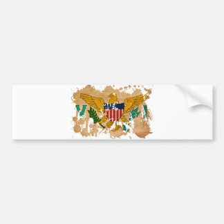 Virgin Islands Flag Car Bumper Sticker