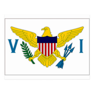 Virgin Islands Flag Postcard