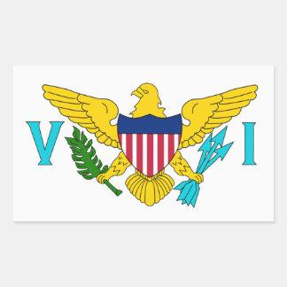 Virgin Islands Flag Rectangular Sticker