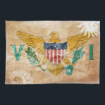 "Virgin Islands Flag Towel<br><div class=""desc"">Original flag design looks like it was painted on! Commemorate your world travels, celebrate your heritage or show everyone how much you love your home! This image is available on a variety of products. Check out all of our other designs at http://www.zazzle.com/zipperedflags Do you have a request or questions? Contact...</div>"
