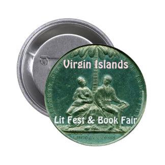 Virgin Islands Lit Fest & Book Fair Button