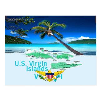 VIRGIN ISLANDS POST CARDS