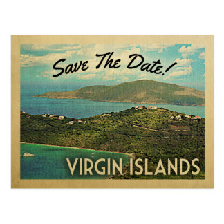 Virgin Islands Save The Date Vintage Postcards