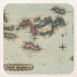 """Virgin Islands Square Paper Coaster<br><div class=""""desc"""">Virgin Islands &amp; c. By Lucas,  Fielding Jr. (182). Published by &#39;&#39;Baltimore: Fielding Lucas Jr&quot;.</div>"""