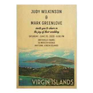 Virgin Islands Wedding Invitation Vintage USVI BVI