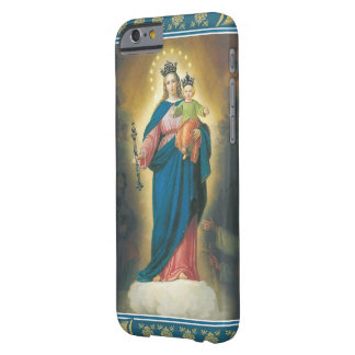 Virgin Madonna Mary with Christ Child Jesus Lily Barely There iPhone 6 Case