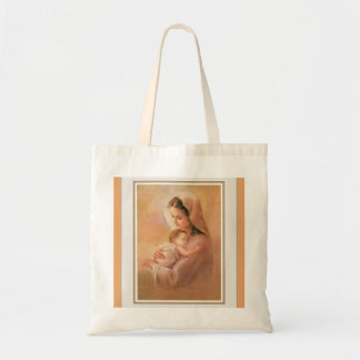 Virgin Madonna Mary with Christ Child Jesus Tote Bag