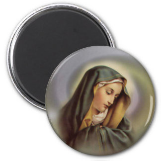 Virgin Mary 2 2 Inch Round Magnet