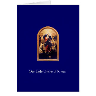 virgin_mary_2, Our Lady Untier of Knots Greeting Card